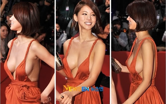 Oh In Hye And Her Orange Grecian Dress In 2011