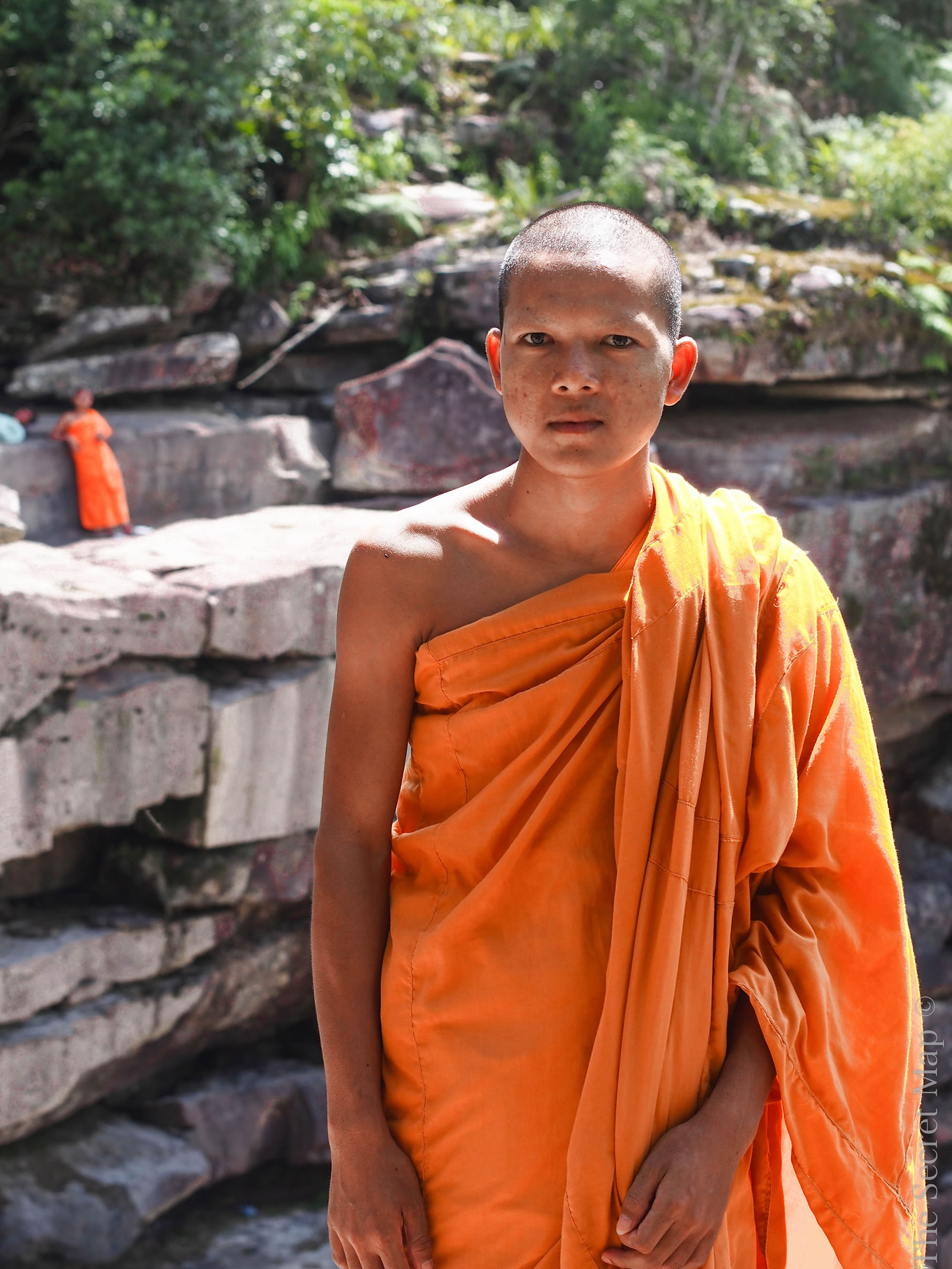 I met this young monk at the peak of Bokor National Park, just above a waterfall.