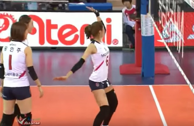 Video Korean Volleyball Girls In-Match Sexy Dancing-8403
