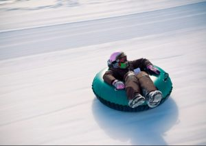 Outdoor Ice Sled-riding at Busan Citizens Park @ Dasom Plaza