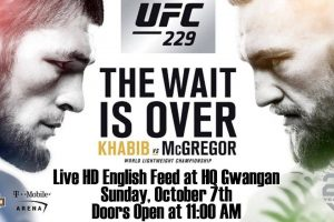 UFC 229: Khabib VS McGregor - Live HD English Feed at HQ Gwangan @ HQ Gwangan